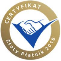 Certyfikat Złoty Płatnik 2018